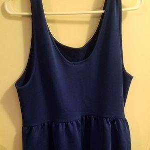 Forever 21 Blue Scuba Knit Dress